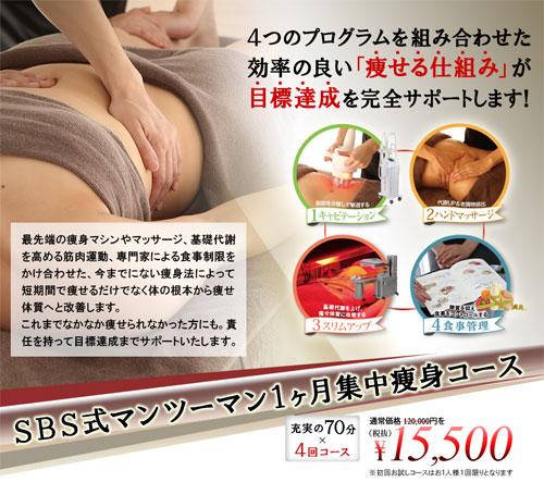 SBSTOKYOの1か月集中痩身コース